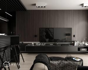 Czarno brązowe mieszkanie